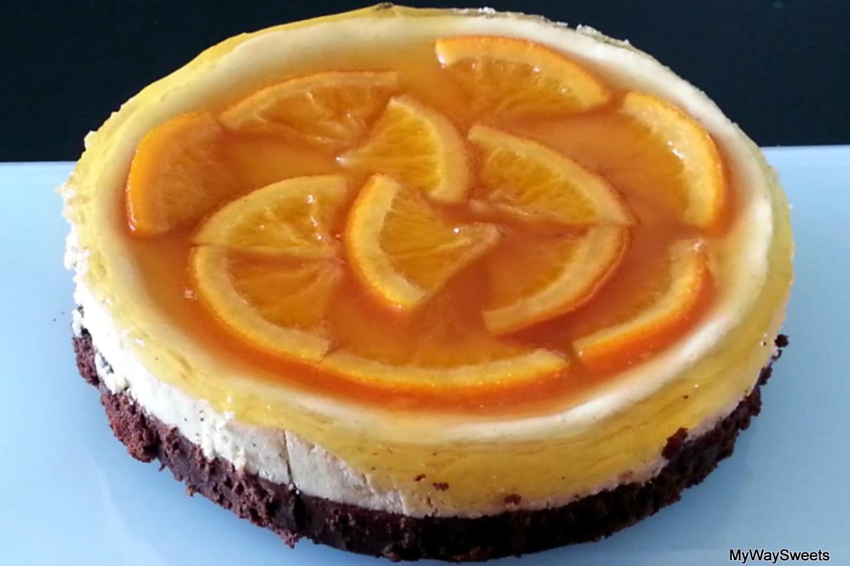 Torcik serowo-pomarańczowy