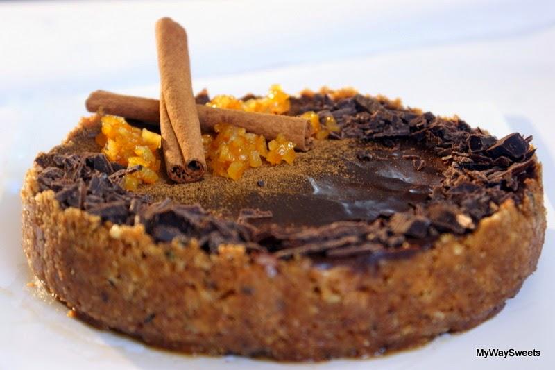 Sernik czekoladowo-cynamonowy