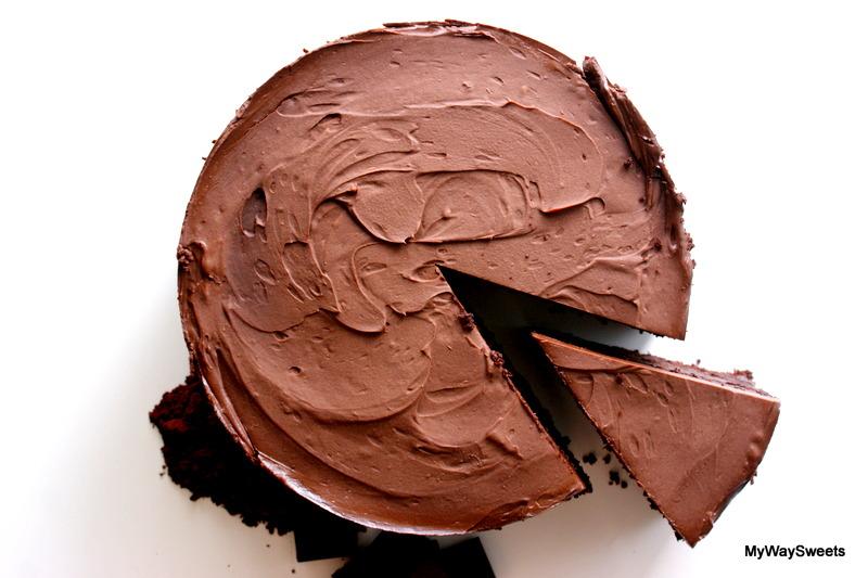Bardzo czekoladowy torcik