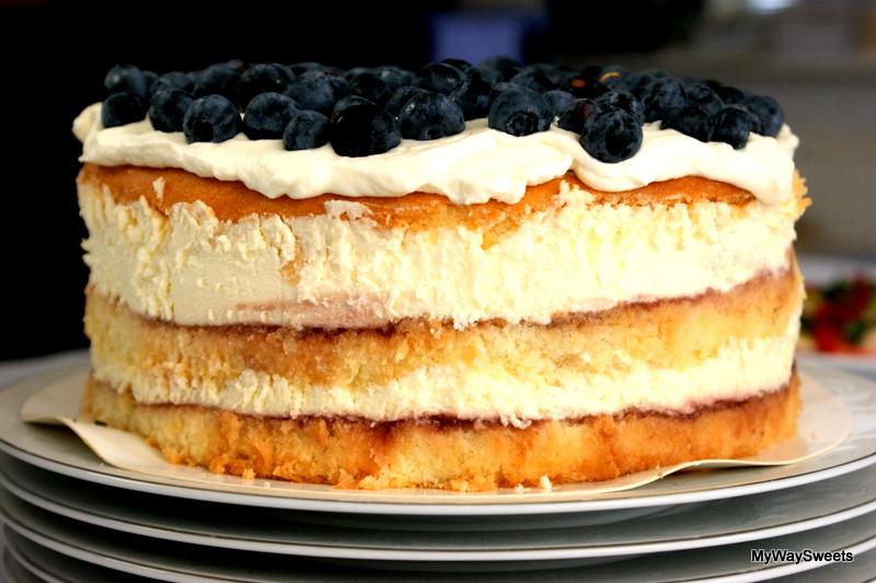 Tort malinowy z nutką cytryny i mascarpone